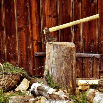 wood chopping as fundraiser